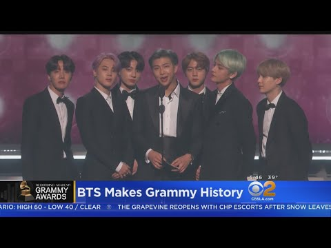 BTS First K-Pop Act To Present At The Grammys