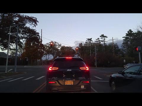 Driving from Garden City to Old Westbury in Nassau,New York