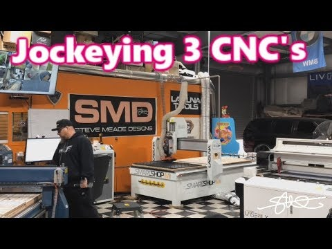 Jockeying 3 CNC Machines at the same time - Making Car Audio Accessories! SMD HQ