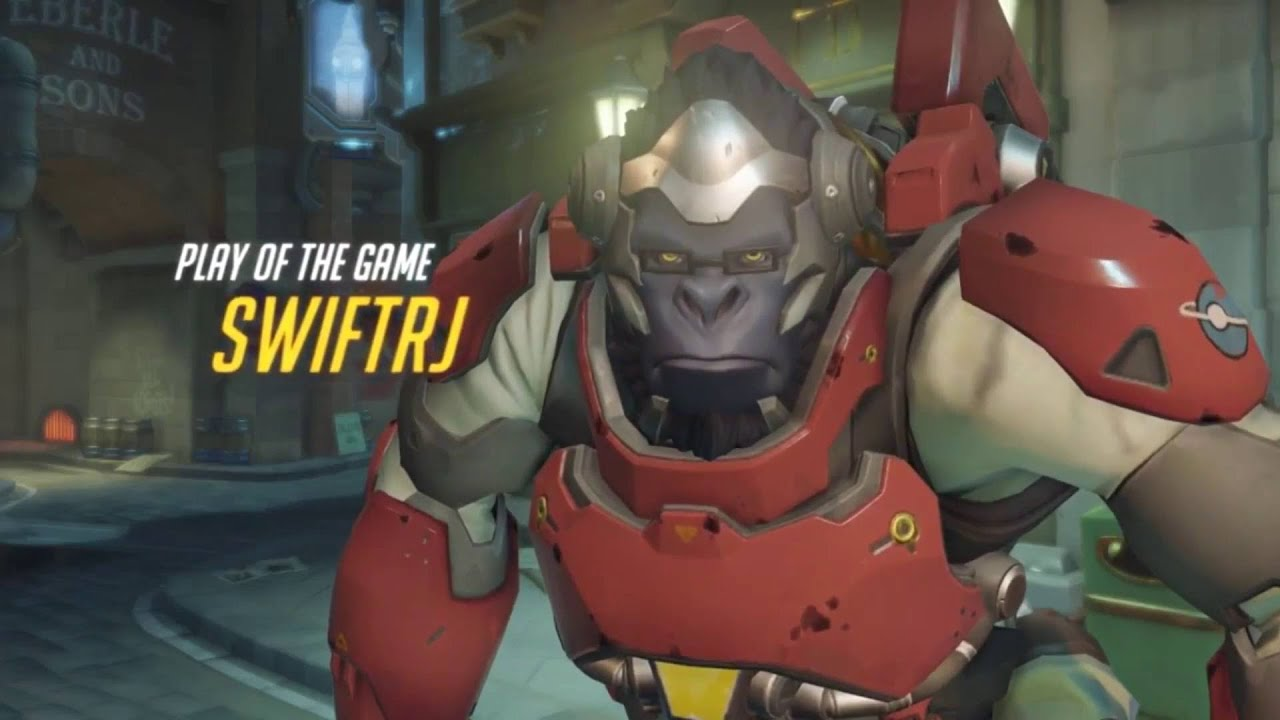 Winston gets play of the game (Overwatch)