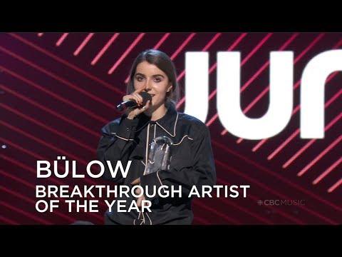 Bülow wins Breakthrough Artist of the Year | Juno Awards 2019