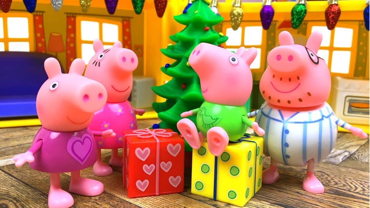 Navidades en casa de peppa pig con regalos y pijamas el mas pequeno arbol de navidad y papa - Peppa pig la casa del arbol ...