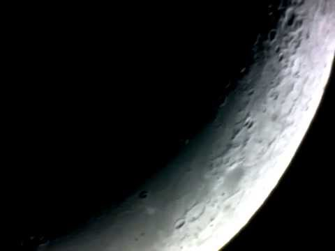 Crescent moon astrophotography via celestron powerseeker 114eq 4
