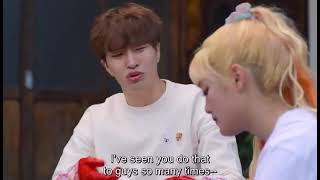 [Engsub] GOT7 Youngjae and gidle Minnie fight scene, Its so cute