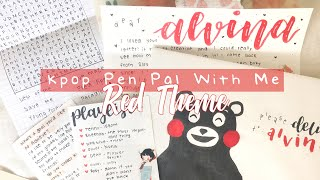 🍎 Kpop Pen Pal With Me #5 | Red Theme