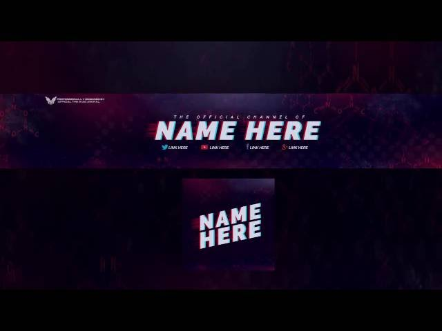 Top 3 Free YouTube Banner Template - Logo Template (FREE DOWNLOAD)