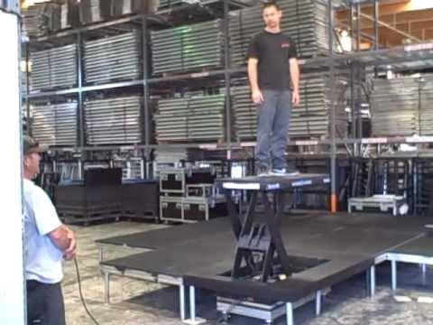 All Access Hydraulic Scissor Lift Stage Layout