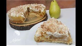 Armutlu ve Pudingli nefis bir pasta tarifim var I Saftiger Birnenkuchen mit Pudding