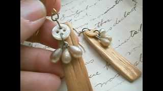 Jewelry by Jennifer Valentine, Gift from the Sea Series: drift wood earrings