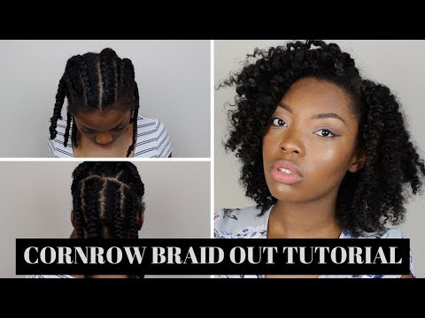 cornrow braid medium length