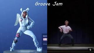 Fortnite Battle Royale - Groove Jam Emote/Dance In Real Life!