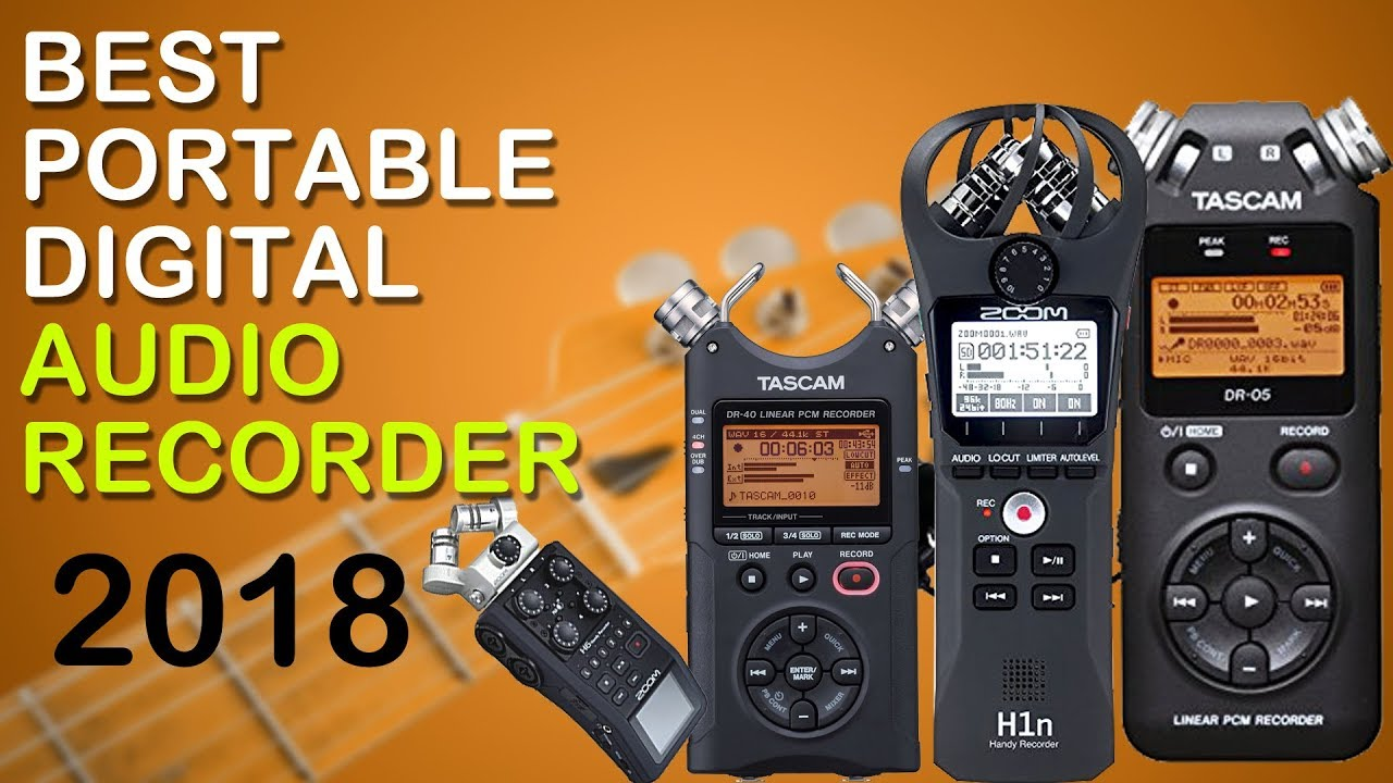 top 5 best portable digital audio recorder 2018 youtube. Black Bedroom Furniture Sets. Home Design Ideas