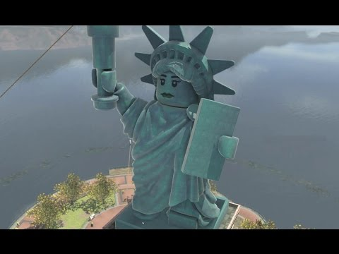 LEGO City Undercover Open World - Lady Liberty Island 100% Guide (All Collectibles)