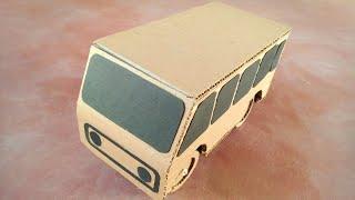 how to make a rc bus from cardboard  मिनी बस कैसे बनाएं
