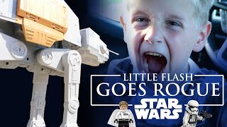 Little Flash Goes Rogue - Star Wars Rogue One Toys in Real Life with Lego | KIDCITY