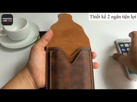 Túi Puloka 2 ngăn đeo hông thắt lưng loại đứng cho điện thoại