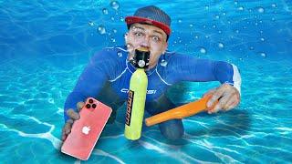 Нашли айфон 12 и другие жуткие находки под водой с помощью акваланга