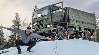 Off road met een Army Truck en een ScaniaG500 XT 6x6, Back to the Oldskool!