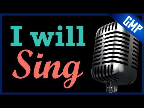 I will sing don moen instrumental (piano)