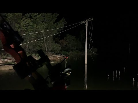 AIRBOAT Bowfishing By POWERLINES!! 60 Fish Night!