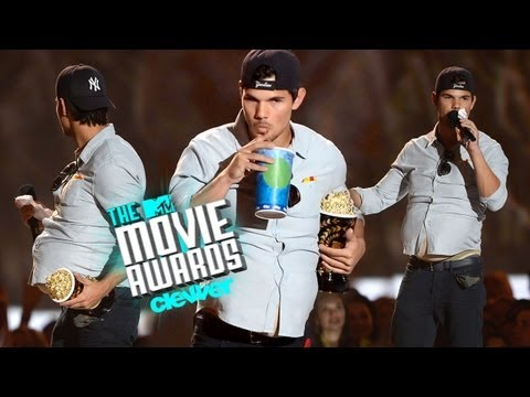 """Taylor Lautner Shows """"New Abs"""" at 2013 MTV Movie Awards"""