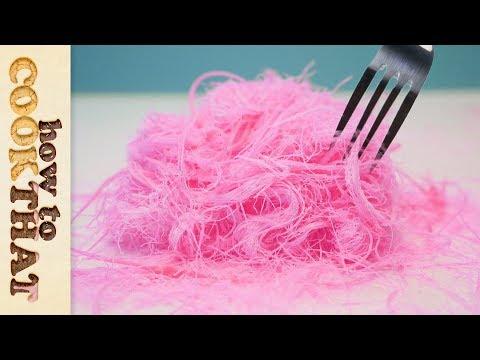 Pink Edible Hair | Pashmak Recipe | Dragons Beard | Cotton Candy | How To Cook That