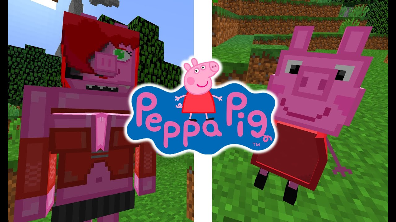peppa pig dans minecraft peppa pig mod minecraft 1 9 fr peppa pig en francais youtube. Black Bedroom Furniture Sets. Home Design Ideas