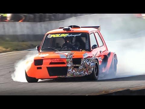 Fiat 126 Proto P2 w/ Honda CBR 1000RR Engine racing on track!