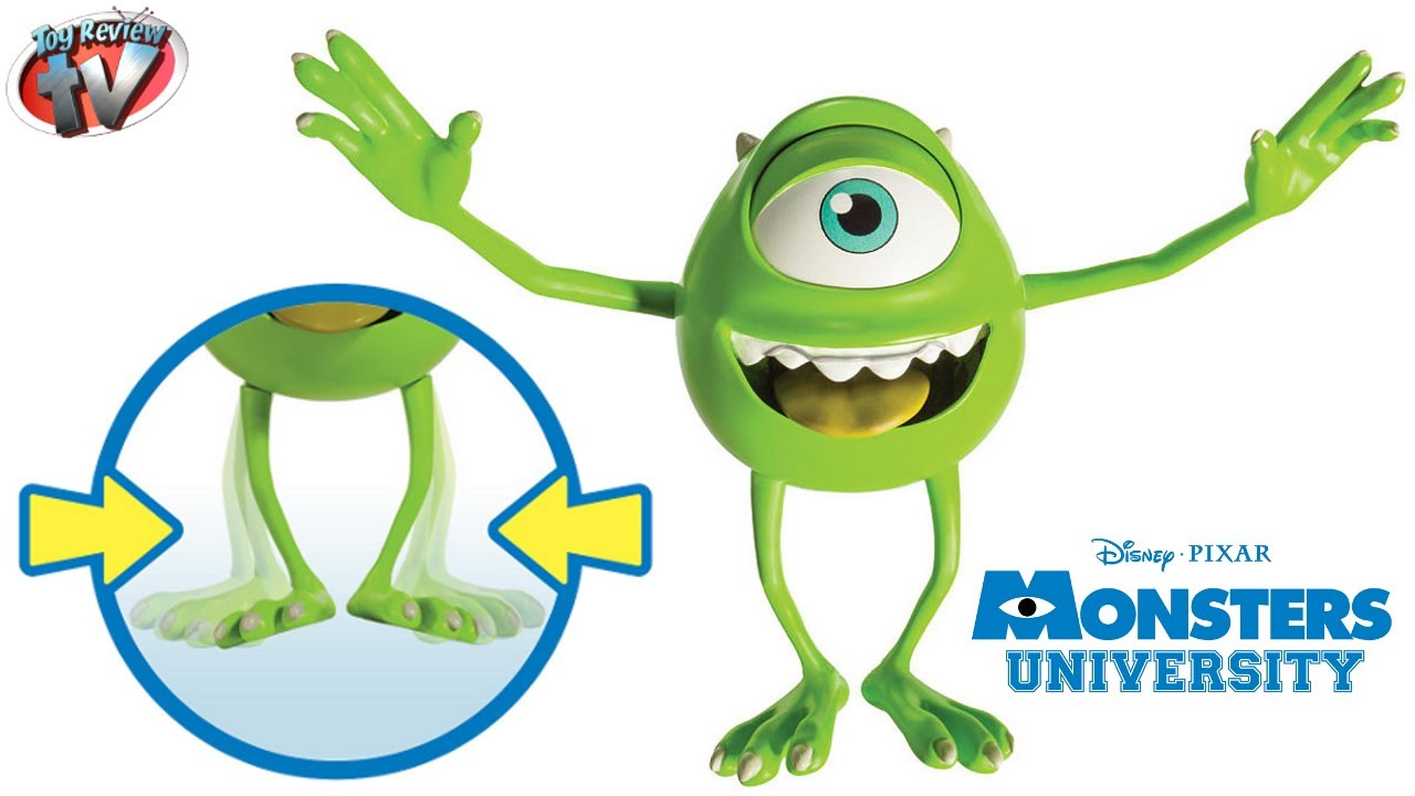 Monsters University Scare Majors Mike Wazowski Action Figure Toy Review, Spin Master - YouTube