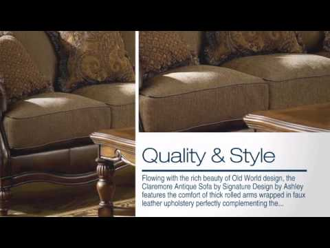 Claremore Antique Sofa from Signature Design by Ashley YouTube