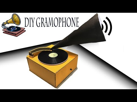 How to make a GramophoneTurntable at Home