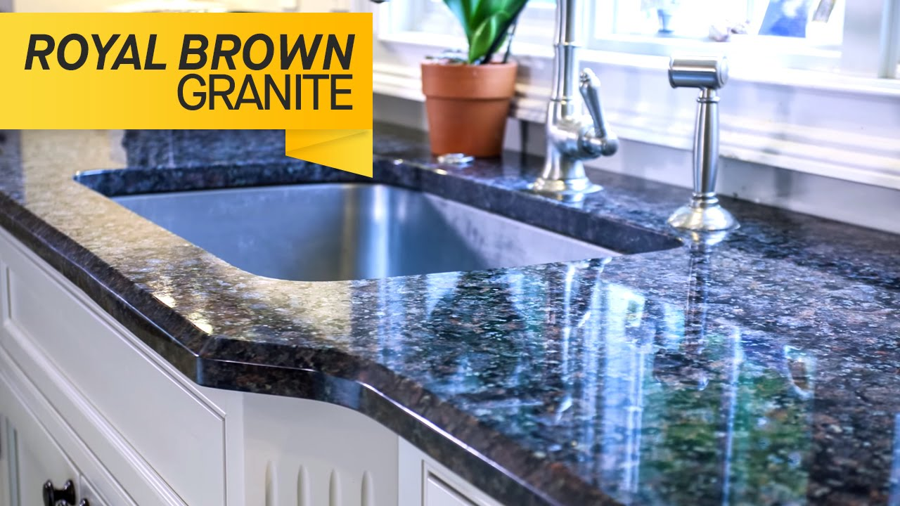 Royal Brown Granite Kitchen Countertops - YouTube