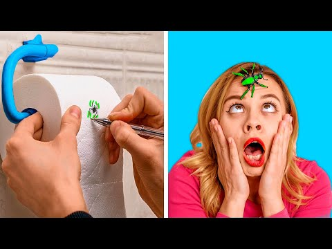 THE MOST SPOOKY PRANKS    Fun and Scary DIY Pranks by 123 GO! GOLD