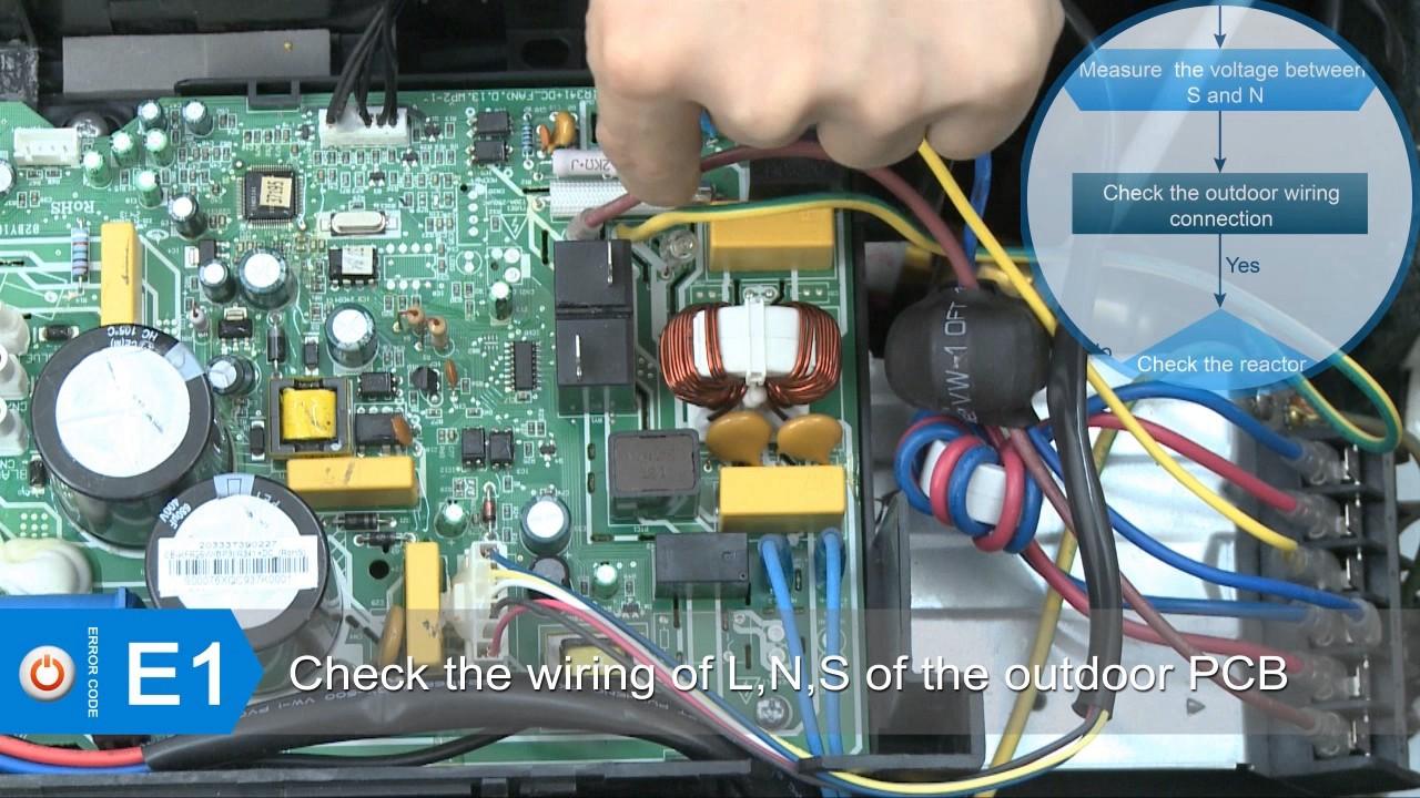 AC Pro Mini Split Troubleshooting E1 Error Code  YouTube