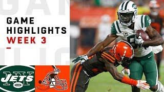 Jets vs. Browns Week 3 Highlights | NFL 2018 thumbnail