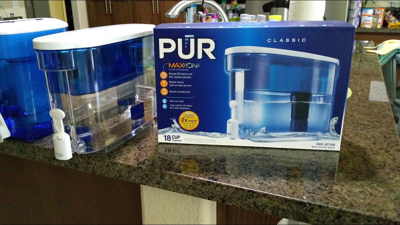Water Filtration Dispenser Pur 18 Cup Dispenser For Baby Formula Review Thoughts Youtube