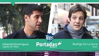 Rodrigo De La Serna (actor) y Sebastián Domínguez (futbolista)