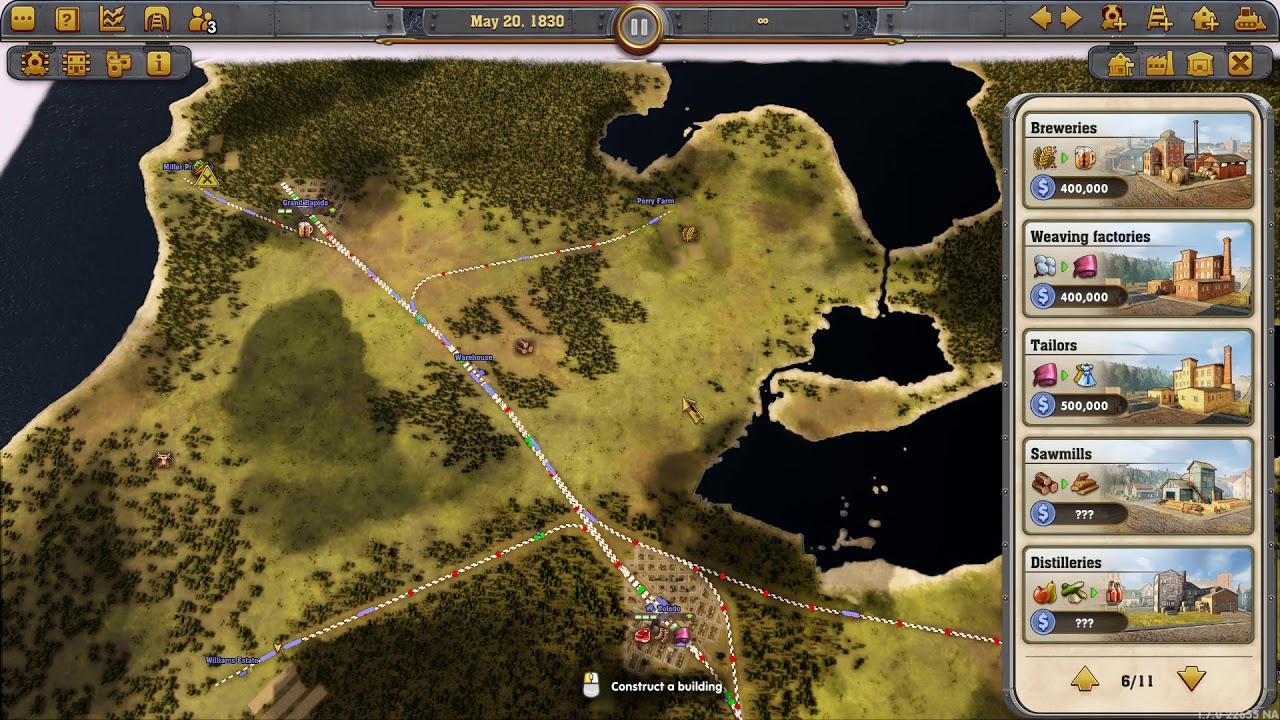 Railway Empire - Quick Guide - 2 City Cluster with Pass Through Warehouse