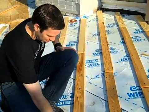 White Metal Roof With Rigid Insulation Youtube