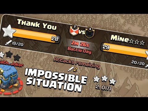 Will My Last Attack Save Our War?.......... Clash Of Clans - COC