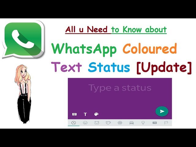 How To Set Colorful Text Status In Whatsapp Mashnol