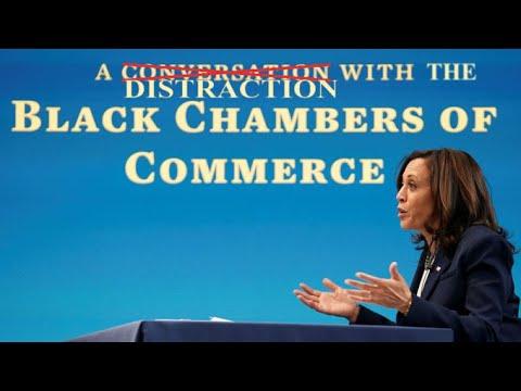 Kamala Talks To The Black Chambers of Commerce,  Makes NO Promises!