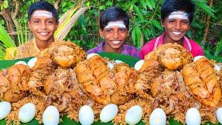 5 KG FULL CHICKEN BIRYANI EATING | SMOKY DUM BIRYANI | VILLAGE COOKING BIRYANI | VILLAGE BOYS EATING