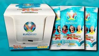 UNBOXING BOOSTER BOX (400 CARDS) | Panini UEFA EURO 2020 Adrenalyn XL Trading Cards | 50 PACKS!!!