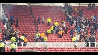 BLADES AWAY AT MIDDLESBROUGH (offside goal & fighting)