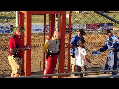 Makayla Singing the National Anthem at Lawrenceburg Speedway - 09-14-19