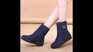 Покупки с Aliexpress!Женские зимние сапоги,обзор!Как просто измерить размер стопы для заказа обуви?!