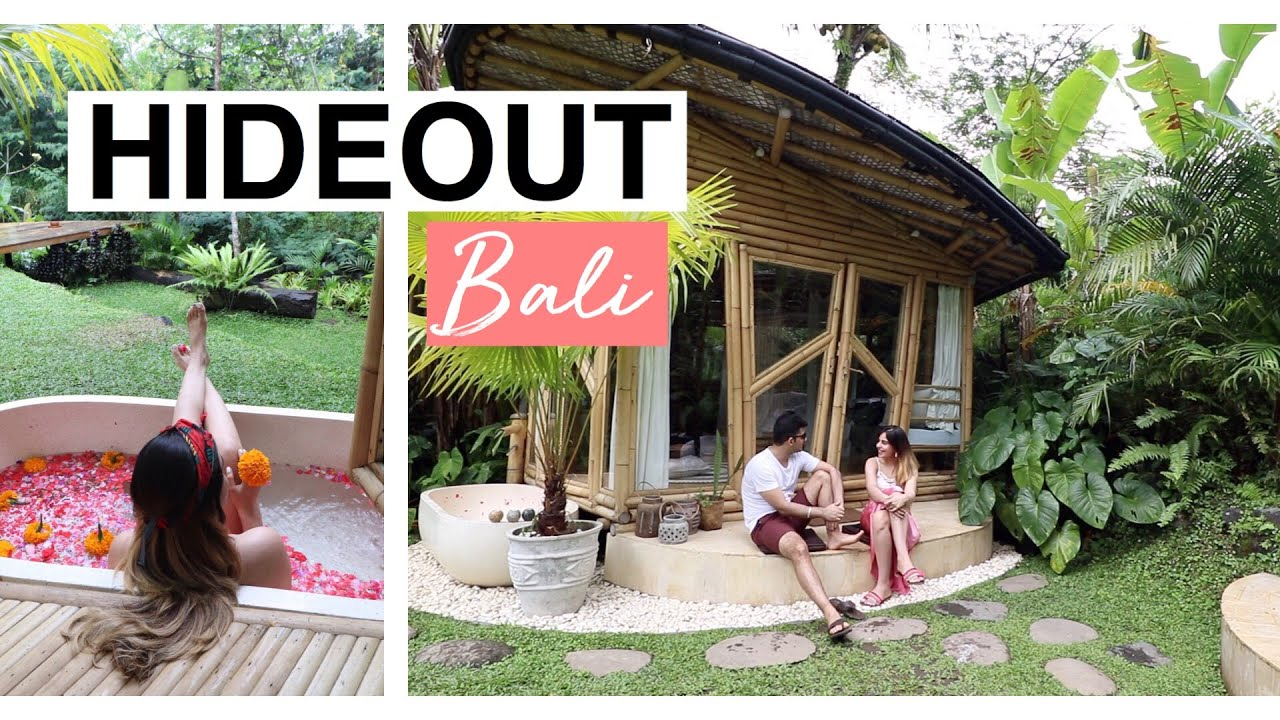 The Coolest Bamboo Airbnb Tour Hideout Ubud Bali 2019 Youtube