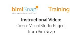 BimlSnap | Creating Visual Studio Project from BimlSnap