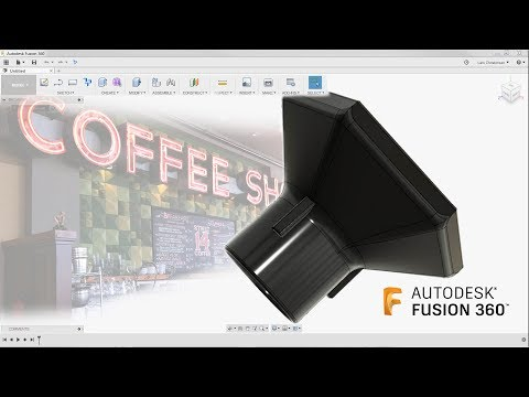 Fusion 360 Absolute Beginner - How To Model a Funnel - Last Nights Facebook Livestream